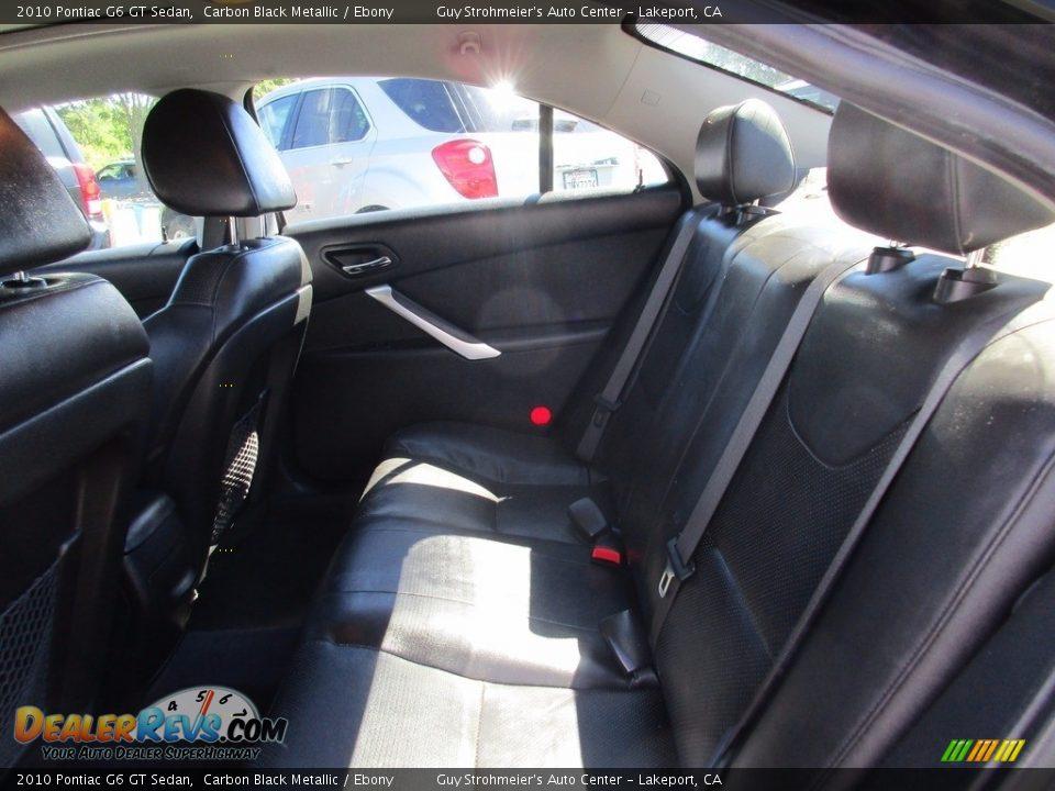 2010 Pontiac G6 GT Sedan Carbon Black Metallic / Ebony Photo #10