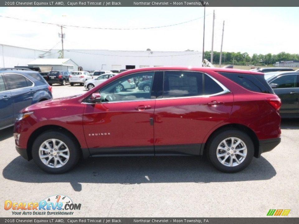 2018 Chevrolet Equinox LT AWD Cajun Red Tintcoat / Jet Black Photo #2