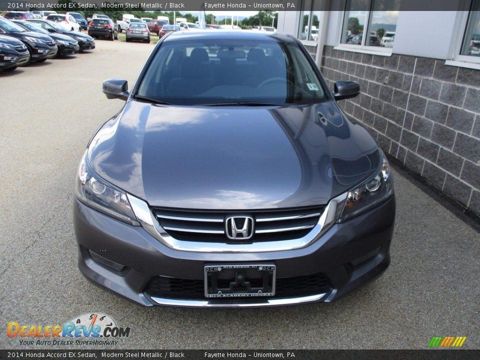2014 Honda Accord EX Sedan Modern Steel Metallic / Black Photo #5