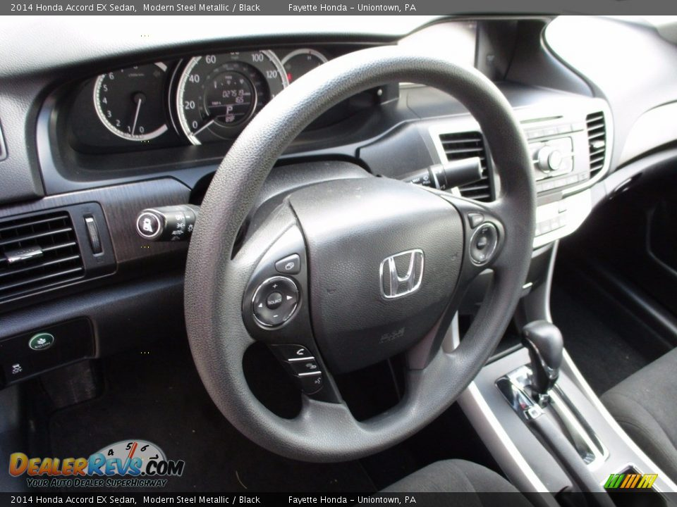2014 Honda Accord EX Sedan Modern Steel Metallic / Black Photo #11