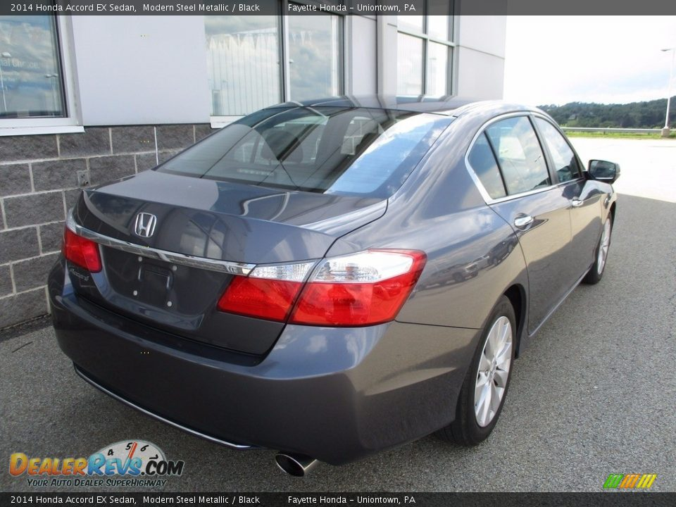 2014 Honda Accord EX Sedan Modern Steel Metallic / Black Photo #17