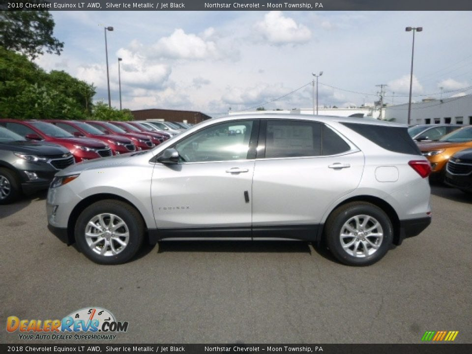 2018 Chevrolet Equinox LT AWD Silver Ice Metallic / Jet Black Photo #2
