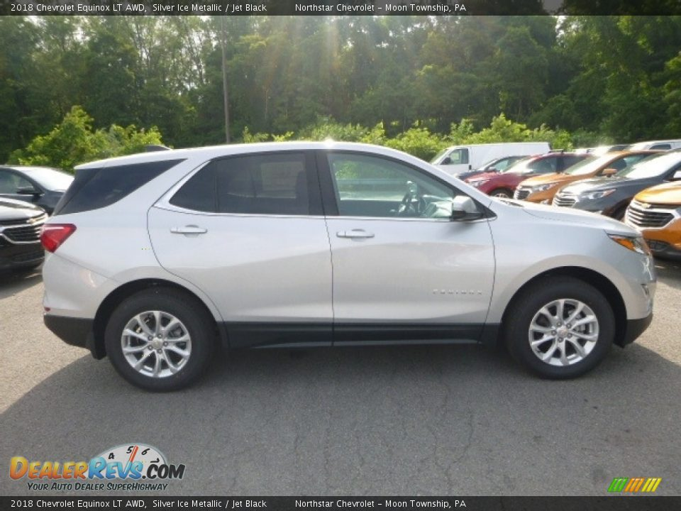 2018 Chevrolet Equinox LT AWD Silver Ice Metallic / Jet Black Photo #6