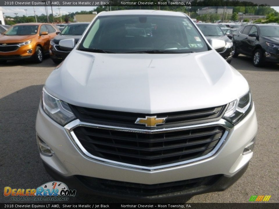 2018 Chevrolet Equinox LT AWD Silver Ice Metallic / Jet Black Photo #8