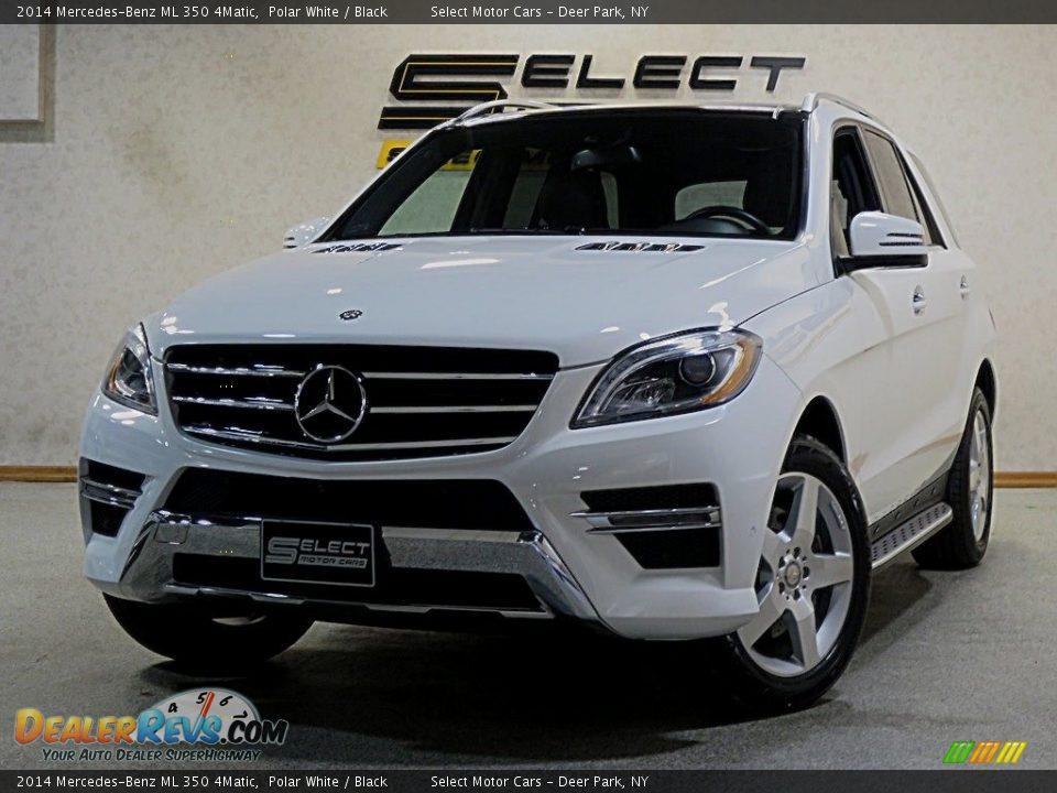 2014 Mercedes-Benz ML 350 4Matic Polar White / Black Photo #1