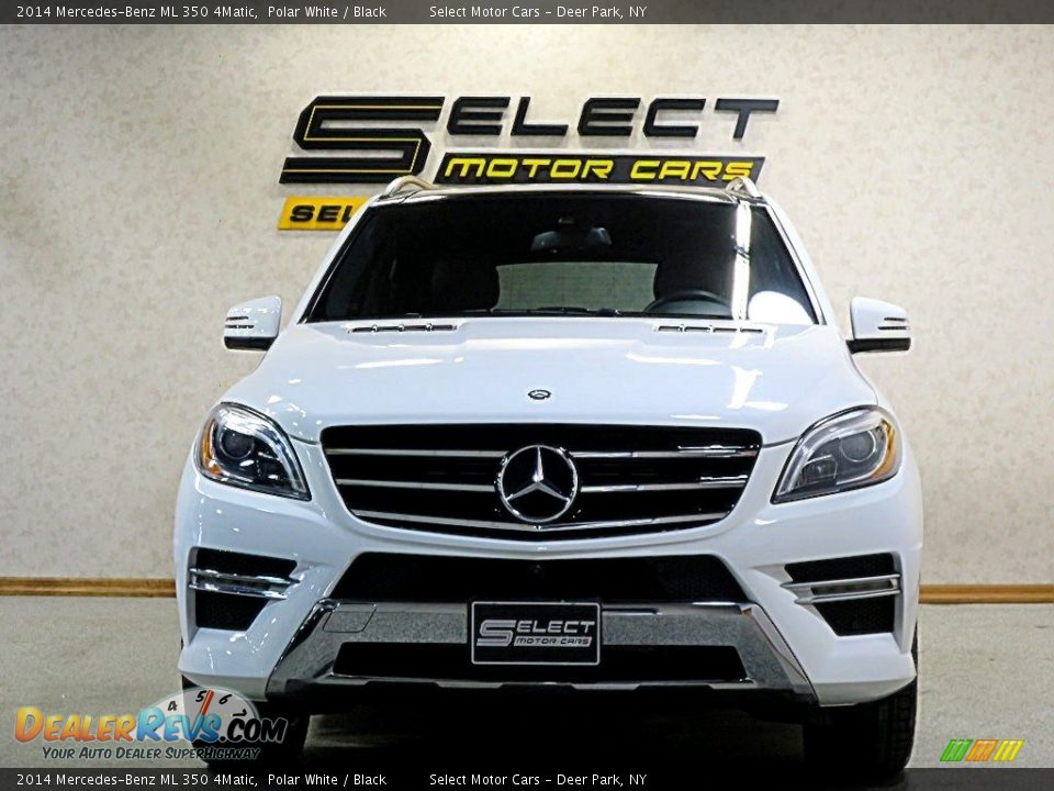 2014 Mercedes-Benz ML 350 4Matic Polar White / Black Photo #2