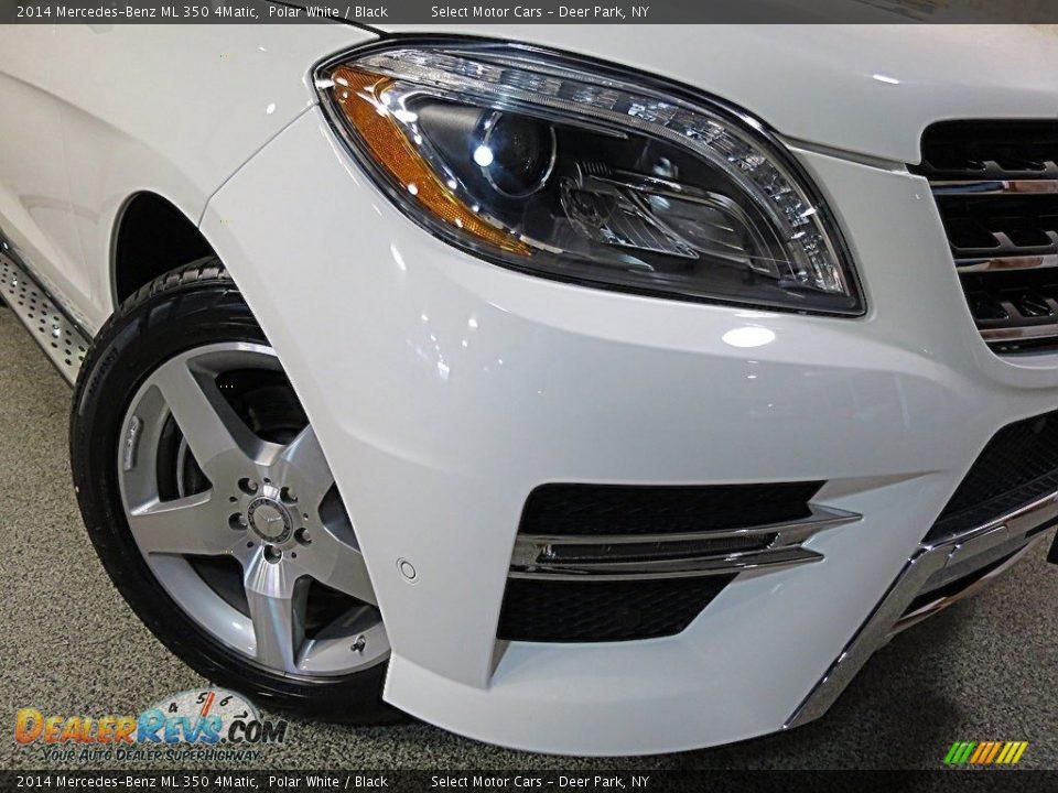 2014 Mercedes-Benz ML 350 4Matic Polar White / Black Photo #8