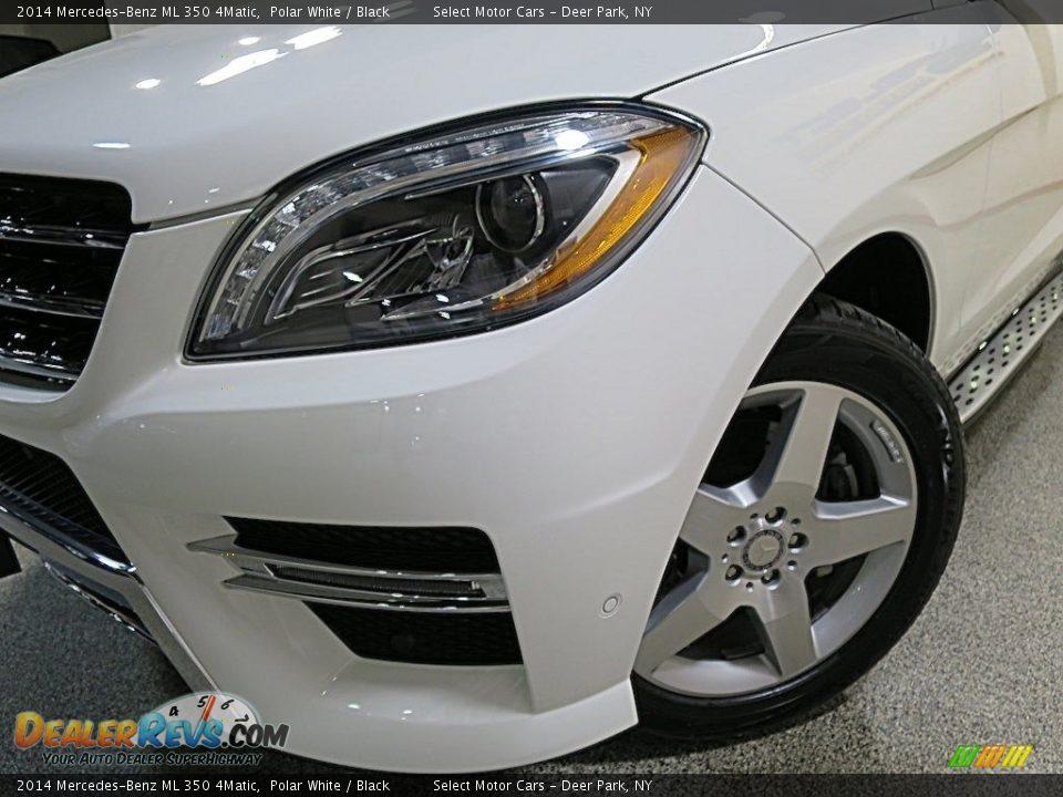 2014 Mercedes-Benz ML 350 4Matic Polar White / Black Photo #9