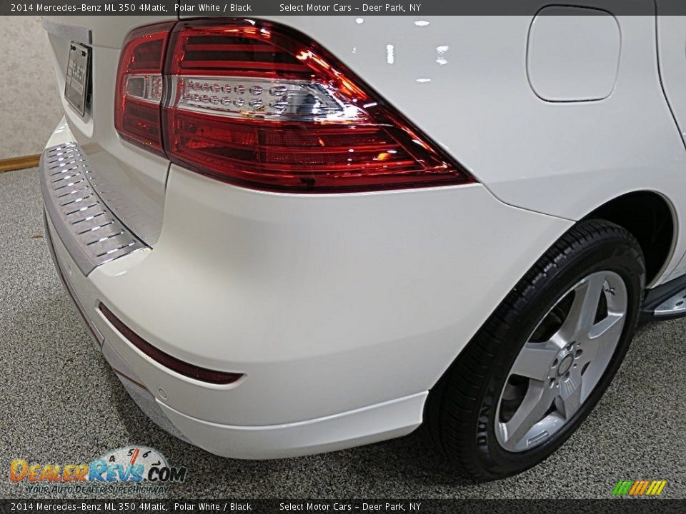 2014 Mercedes-Benz ML 350 4Matic Polar White / Black Photo #11