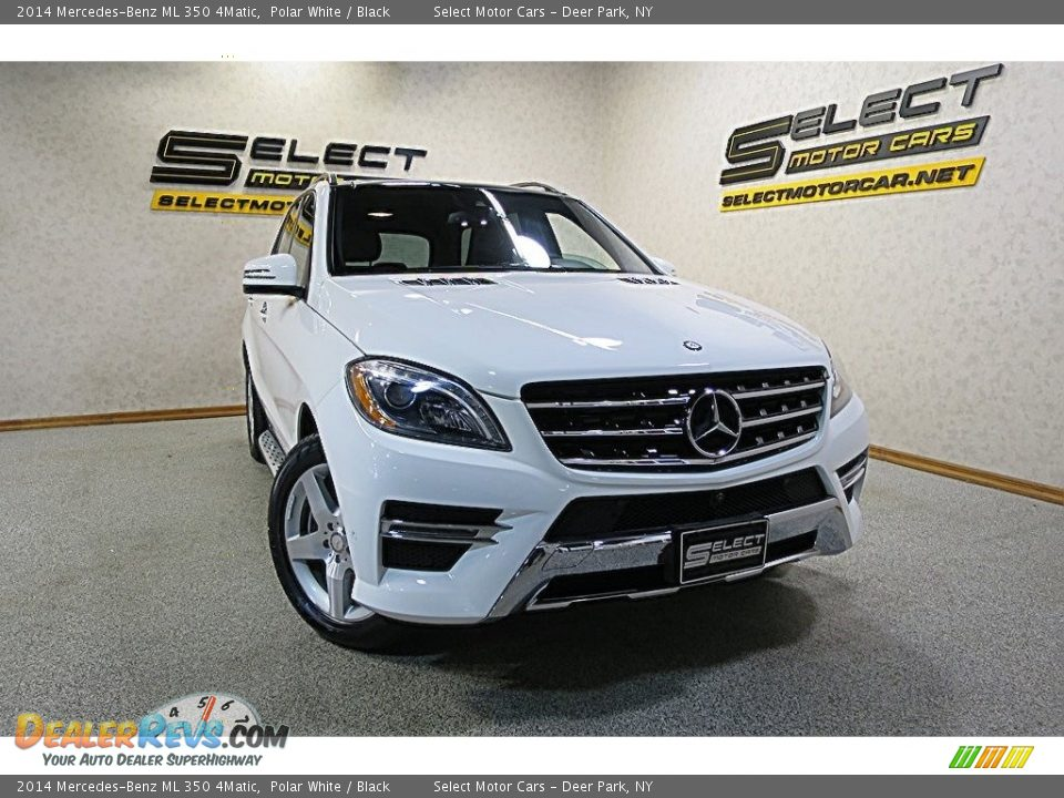2014 Mercedes-Benz ML 350 4Matic Polar White / Black Photo #12