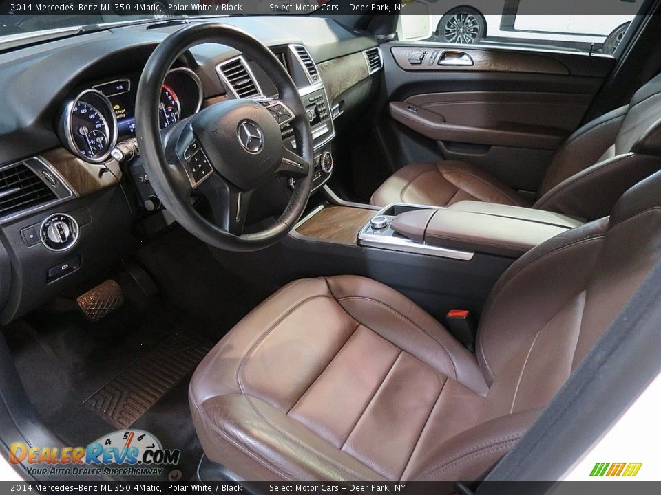 2014 Mercedes-Benz ML 350 4Matic Polar White / Black Photo #15
