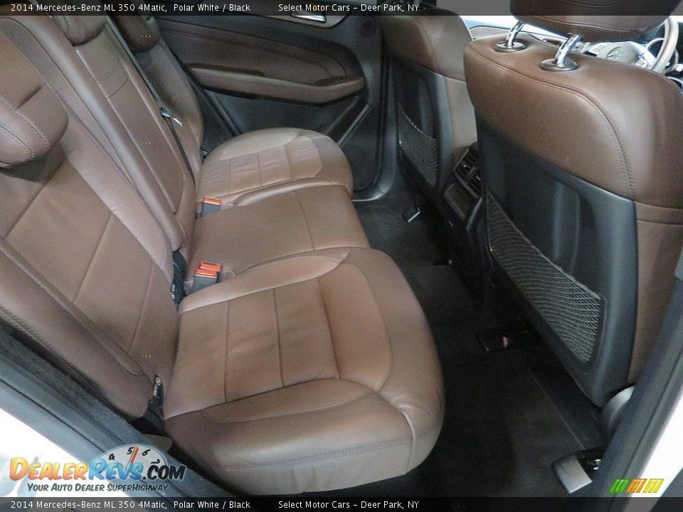 2014 Mercedes-Benz ML 350 4Matic Polar White / Black Photo #19