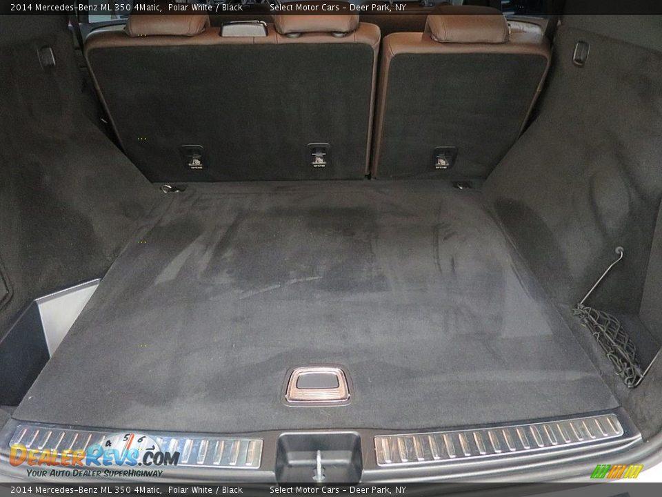 2014 Mercedes-Benz ML 350 4Matic Polar White / Black Photo #22