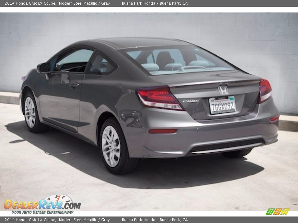 2014 Honda Civic LX Coupe Modern Steel Metallic / Gray Photo #2