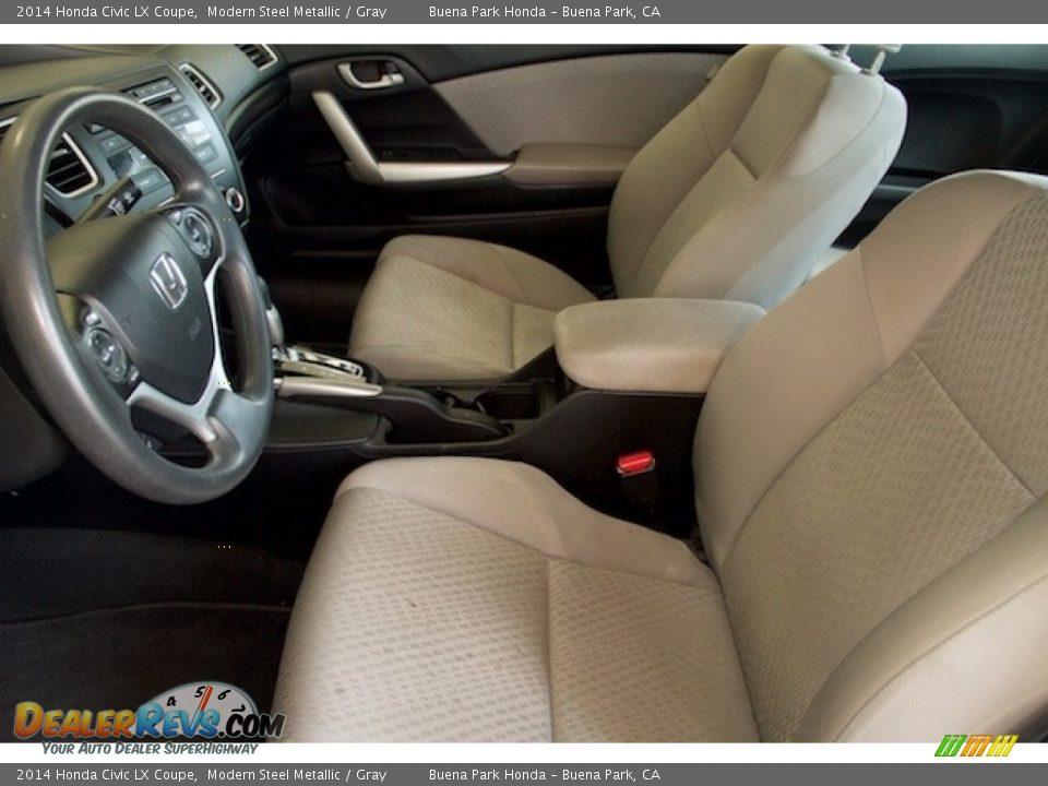 2014 Honda Civic LX Coupe Modern Steel Metallic / Gray Photo #3