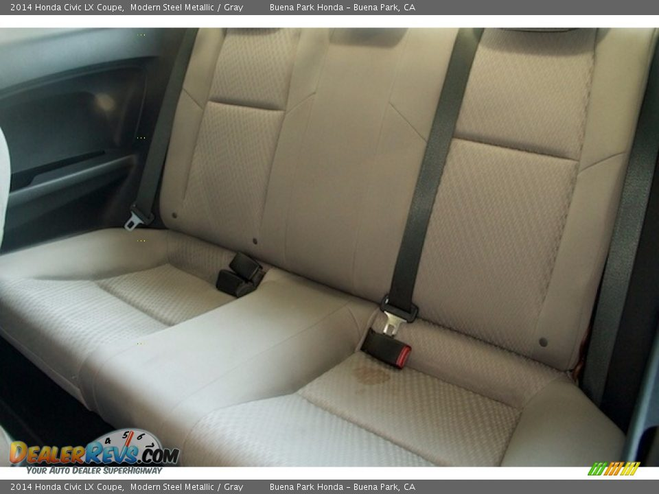 2014 Honda Civic LX Coupe Modern Steel Metallic / Gray Photo #4