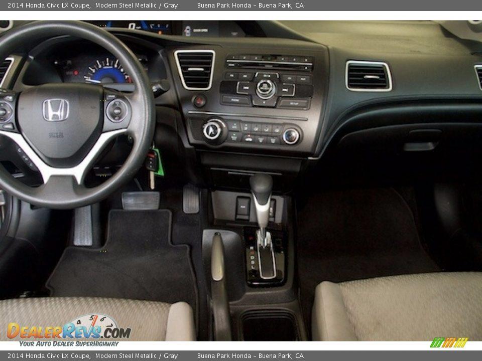 2014 Honda Civic LX Coupe Modern Steel Metallic / Gray Photo #5