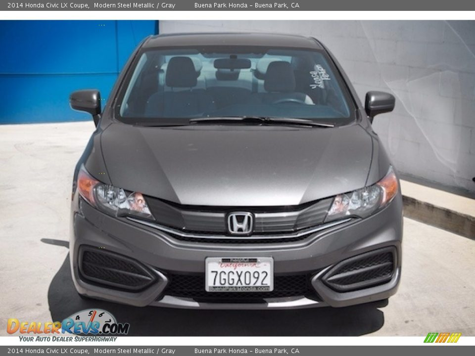 2014 Honda Civic LX Coupe Modern Steel Metallic / Gray Photo #7