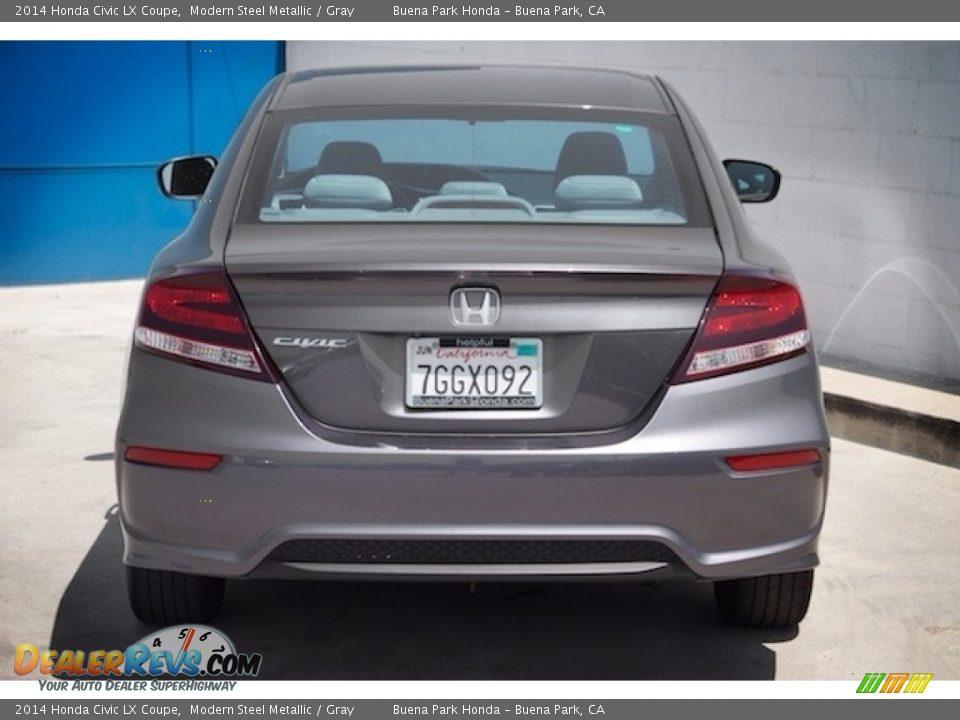 2014 Honda Civic LX Coupe Modern Steel Metallic / Gray Photo #9
