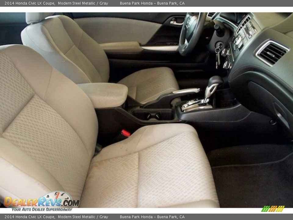 2014 Honda Civic LX Coupe Modern Steel Metallic / Gray Photo #13