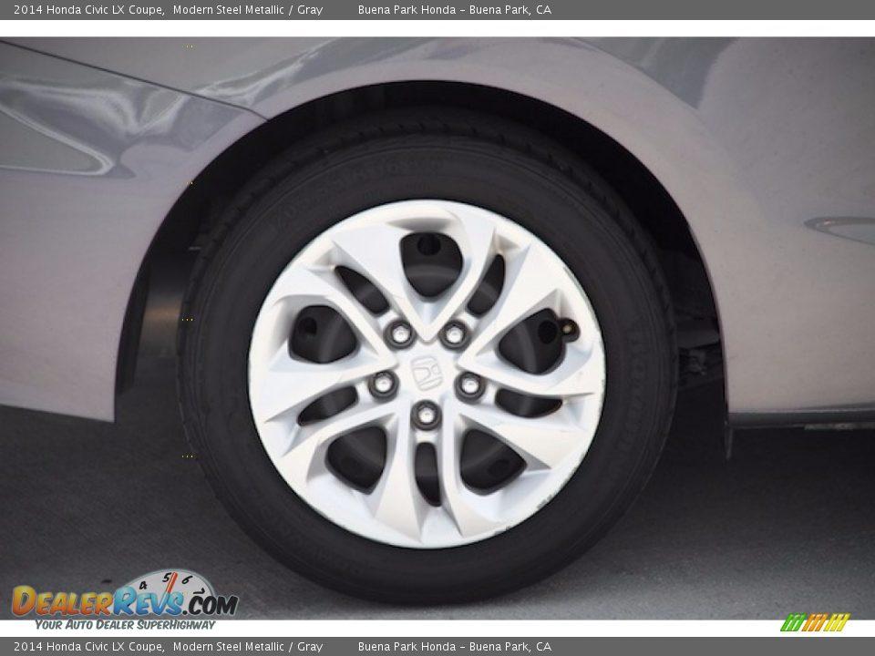 2014 Honda Civic LX Coupe Modern Steel Metallic / Gray Photo #20