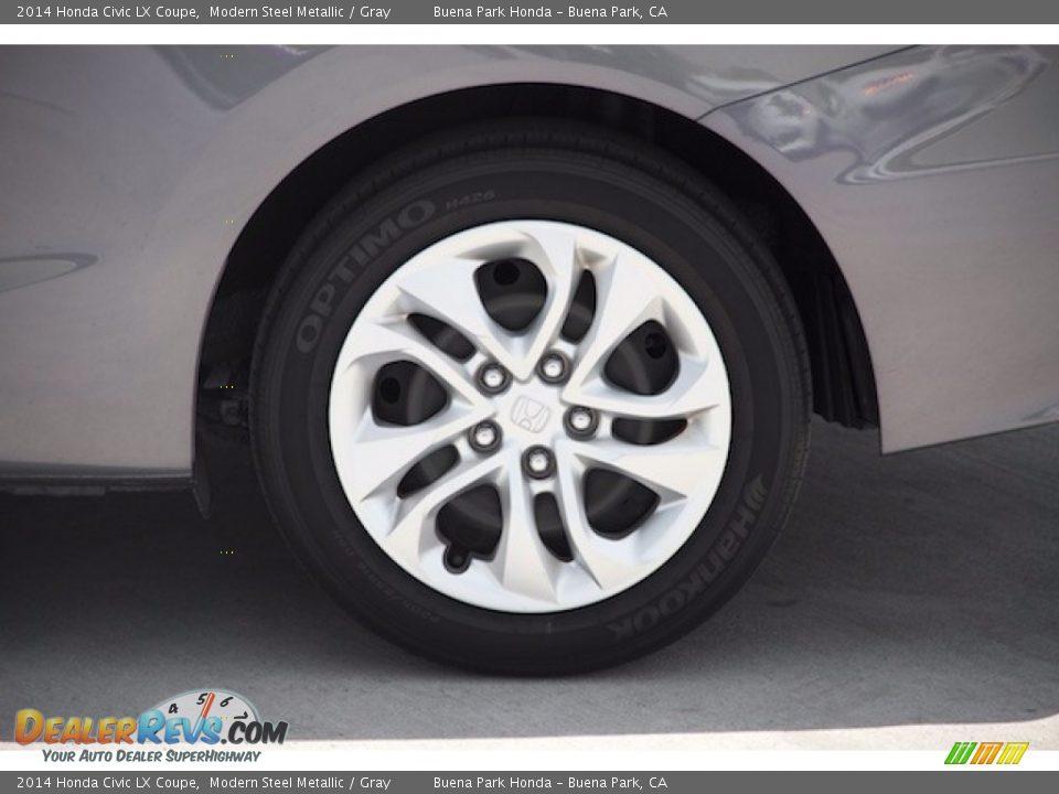 2014 Honda Civic LX Coupe Modern Steel Metallic / Gray Photo #22