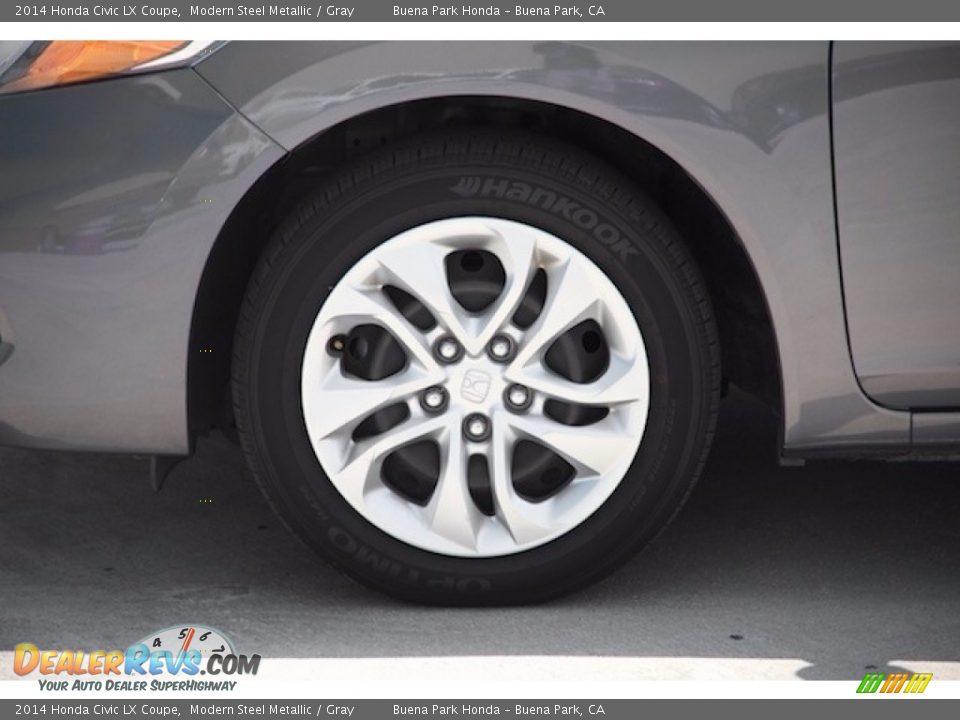 2014 Honda Civic LX Coupe Modern Steel Metallic / Gray Photo #23