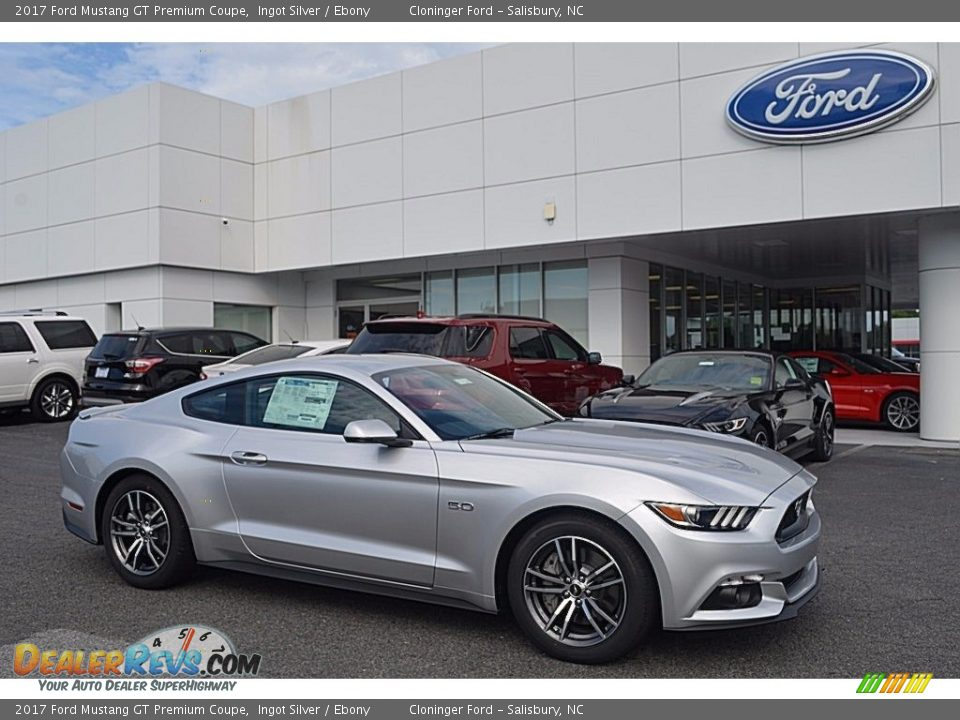 2017 Ford Mustang GT Premium Coupe Ingot Silver / Ebony Photo #1