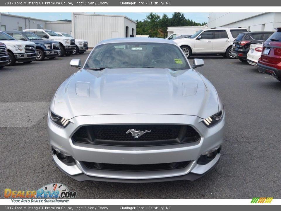 2017 Ford Mustang GT Premium Coupe Ingot Silver / Ebony Photo #4