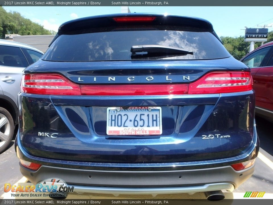 2017 Lincoln MKC Select AWD Midnight Sapphire / Ebony Photo #3