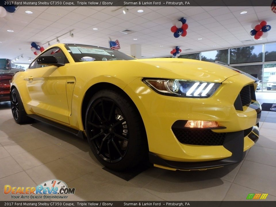 2017 Ford Mustang Shelby GT350 Coupe Triple Yellow / Ebony Photo #1