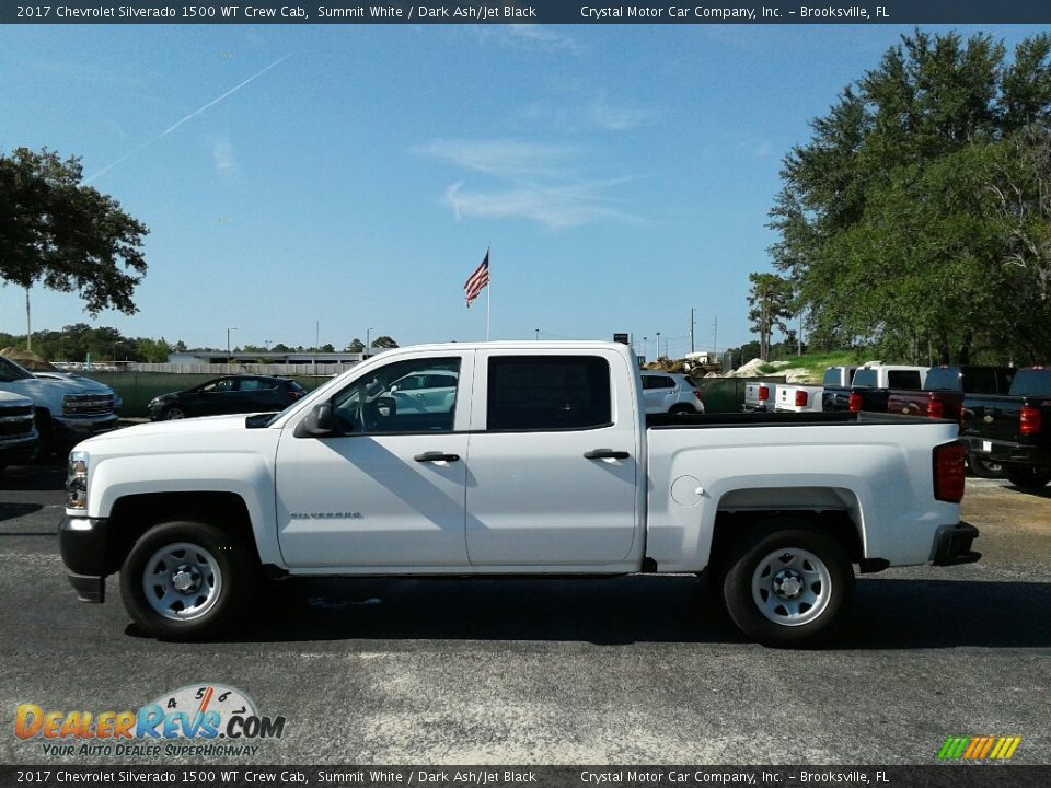 2017 Chevrolet Silverado 1500 WT Crew Cab Summit White / Dark Ash/Jet Black Photo #2