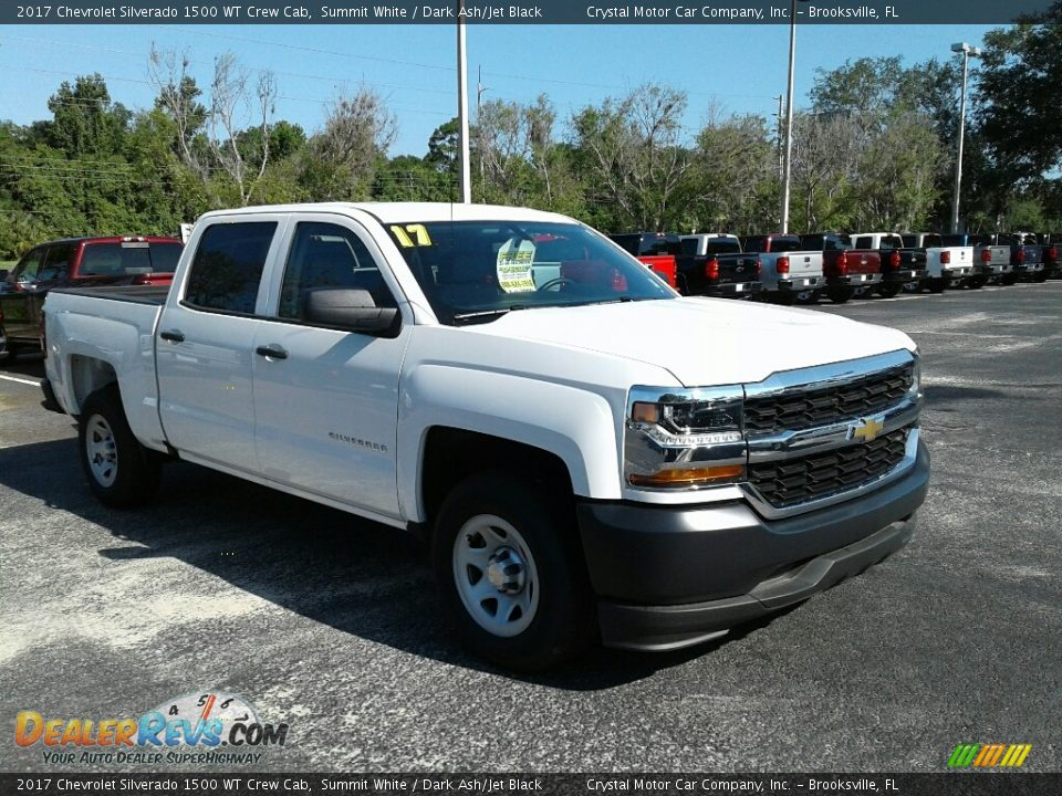 2017 Chevrolet Silverado 1500 WT Crew Cab Summit White / Dark Ash/Jet Black Photo #7