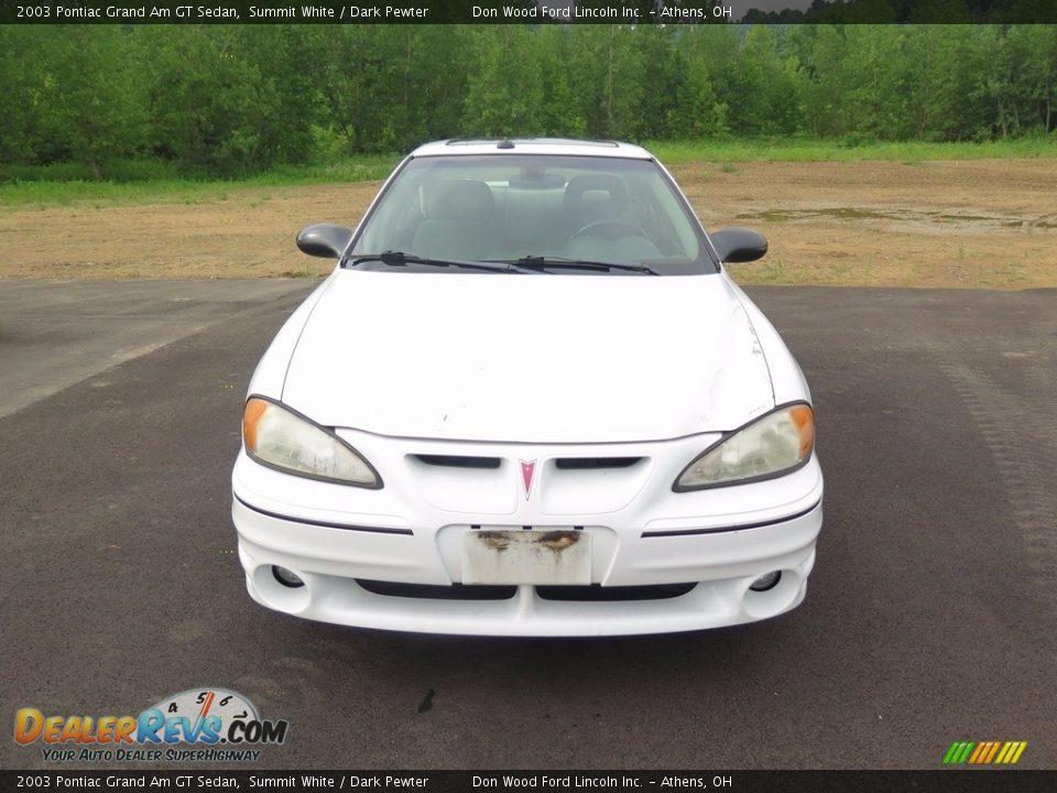 2003 Pontiac Grand Am GT Sedan Summit White / Dark Pewter Photo #2