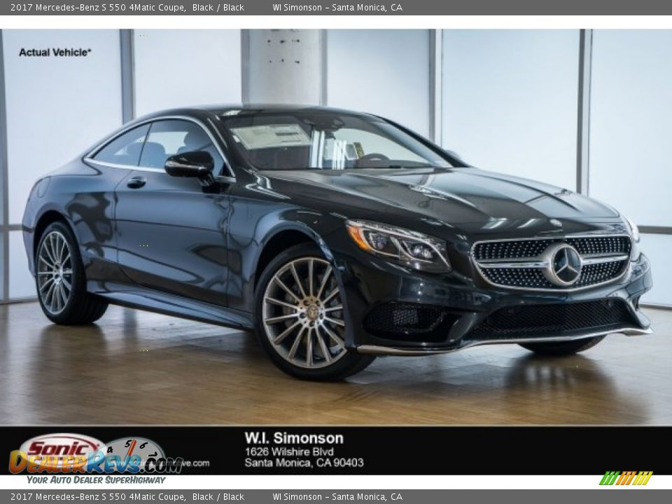 2017 Mercedes-Benz S 550 4Matic Coupe Black / Black Photo #1