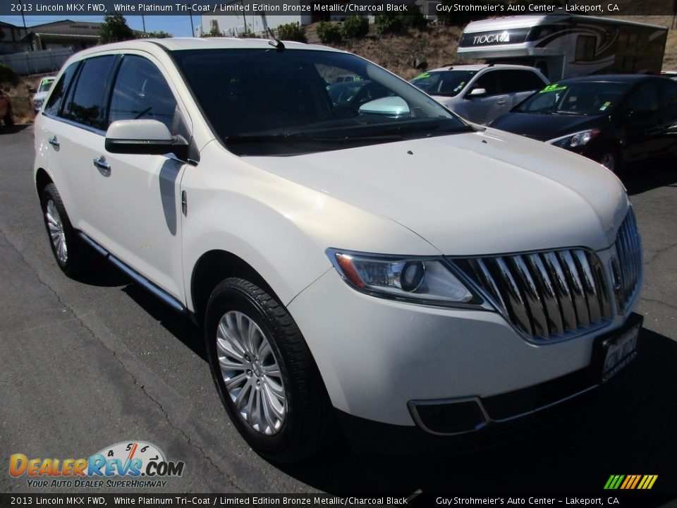 2013 Lincoln MKX FWD White Platinum Tri-Coat / Limited Edition Bronze Metallic/Charcoal Black Photo #1