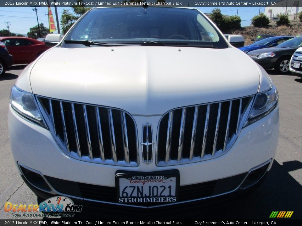 2013 Lincoln MKX FWD White Platinum Tri-Coat / Limited Edition Bronze Metallic/Charcoal Black Photo #2