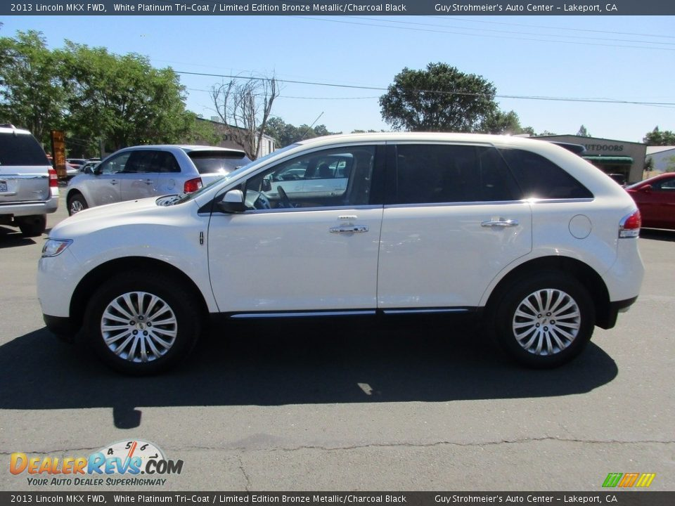 2013 Lincoln MKX FWD White Platinum Tri-Coat / Limited Edition Bronze Metallic/Charcoal Black Photo #4