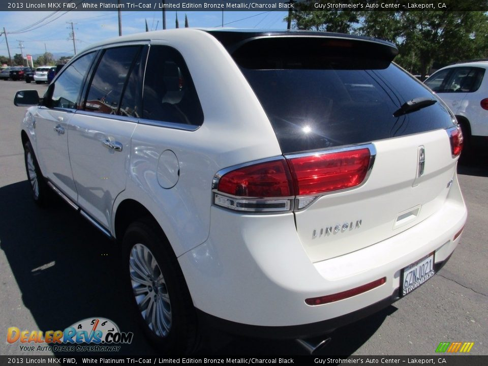 2013 Lincoln MKX FWD White Platinum Tri-Coat / Limited Edition Bronze Metallic/Charcoal Black Photo #5