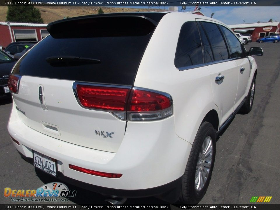 2013 Lincoln MKX FWD White Platinum Tri-Coat / Limited Edition Bronze Metallic/Charcoal Black Photo #7