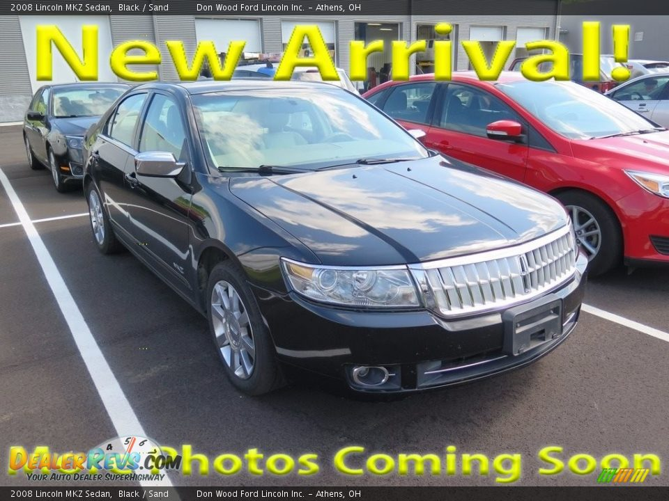 2008 Lincoln MKZ Sedan Black / Sand Photo #1