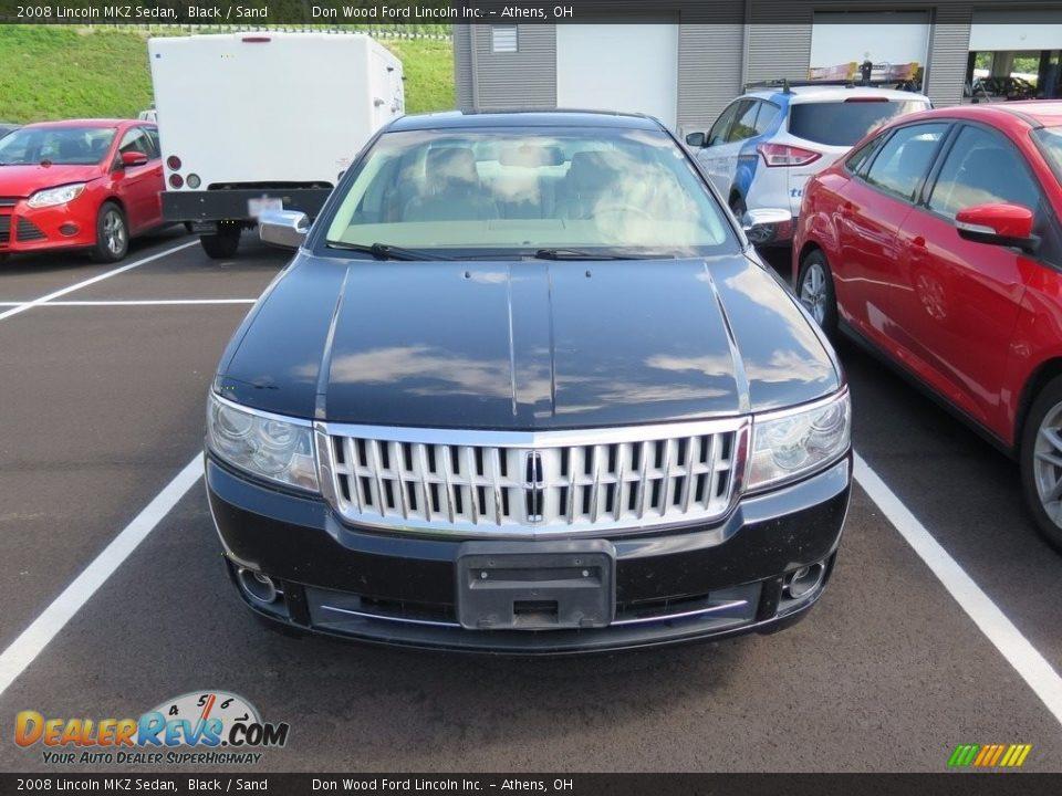 2008 Lincoln MKZ Sedan Black / Sand Photo #2