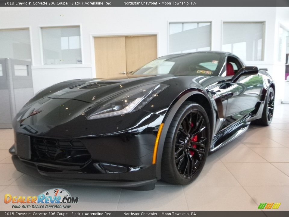 2018 Chevrolet Corvette Z06 Coupe Black / Adrenaline Red Photo #2