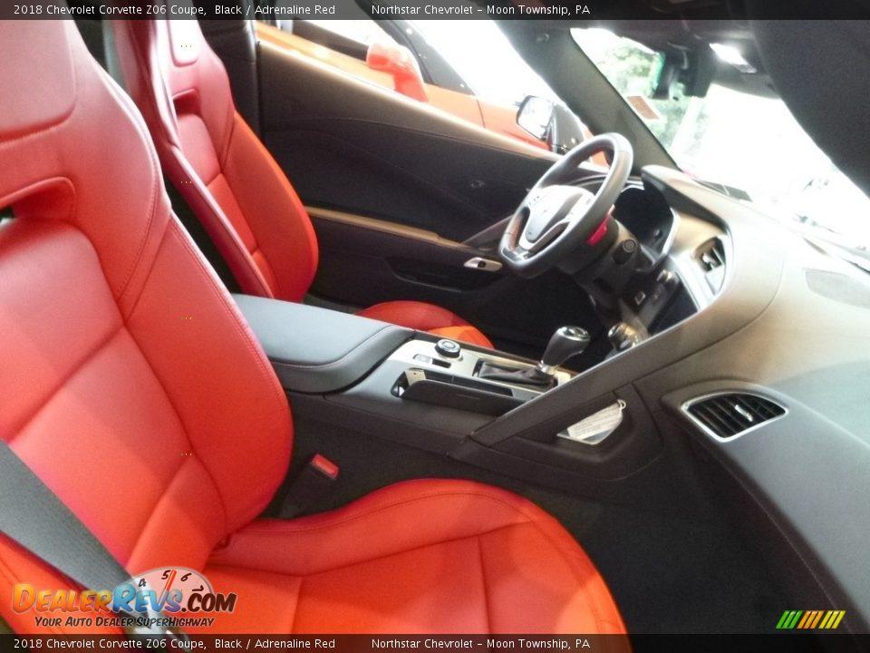 2018 Chevrolet Corvette Z06 Coupe Black / Adrenaline Red Photo #10