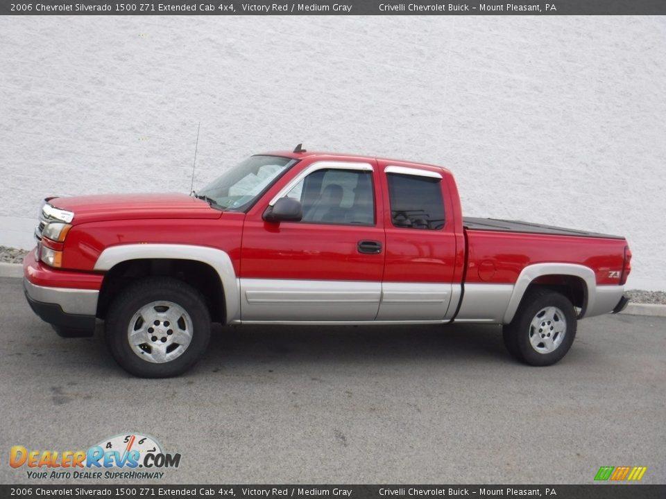 2006 Chevrolet Silverado 1500 Z71 Extended Cab 4x4 Victory Red / Medium Gray Photo #2