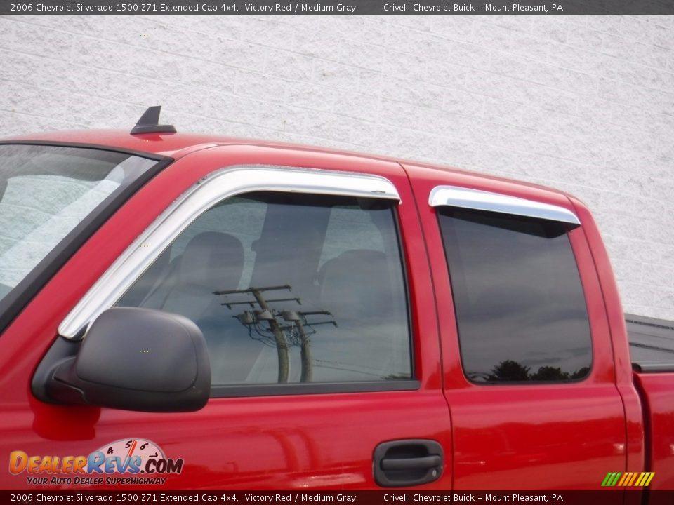 2006 Chevrolet Silverado 1500 Z71 Extended Cab 4x4 Victory Red / Medium Gray Photo #3