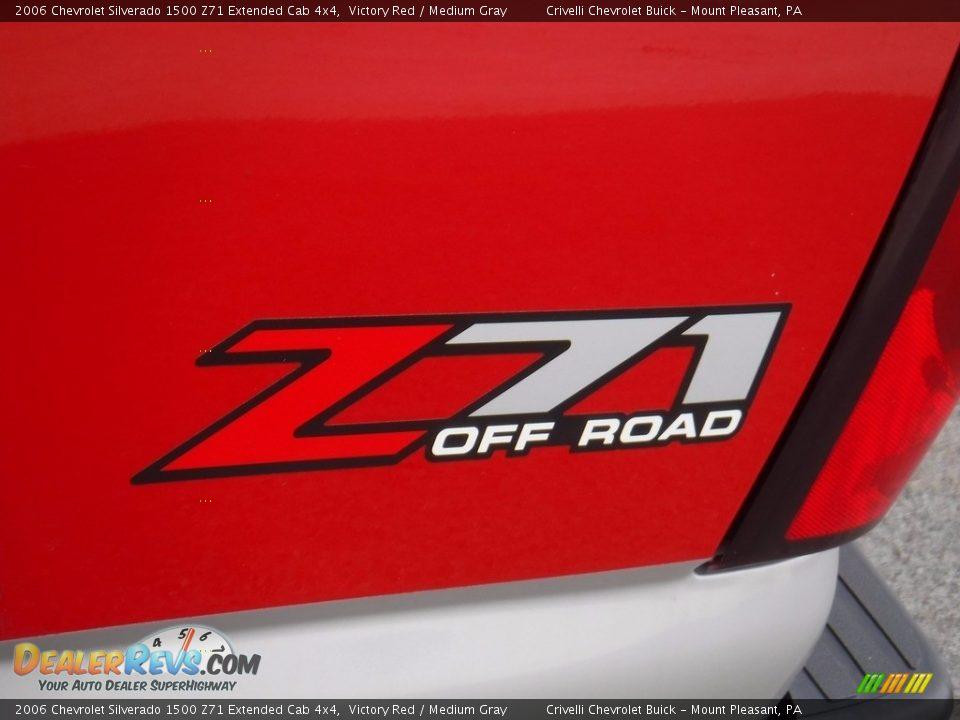 2006 Chevrolet Silverado 1500 Z71 Extended Cab 4x4 Victory Red / Medium Gray Photo #5