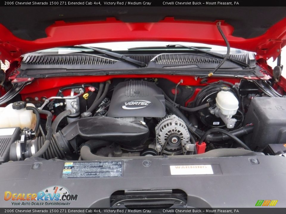 2006 Chevrolet Silverado 1500 Z71 Extended Cab 4x4 Victory Red / Medium Gray Photo #14