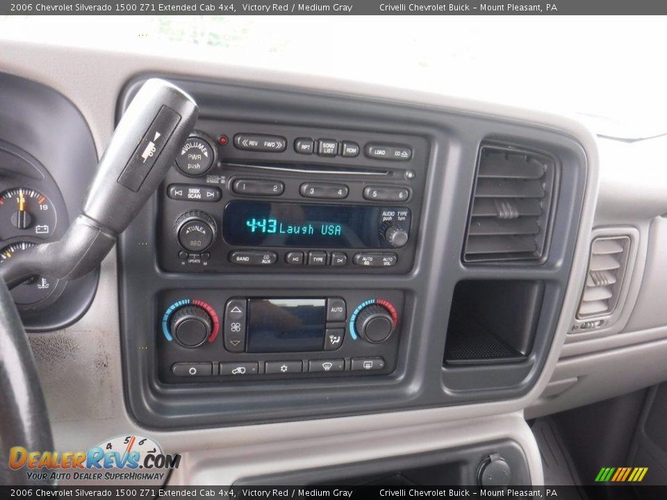 2006 Chevrolet Silverado 1500 Z71 Extended Cab 4x4 Victory Red / Medium Gray Photo #26