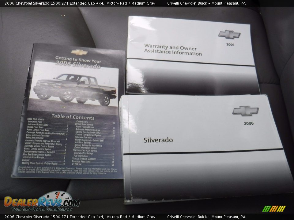 2006 Chevrolet Silverado 1500 Z71 Extended Cab 4x4 Victory Red / Medium Gray Photo #32